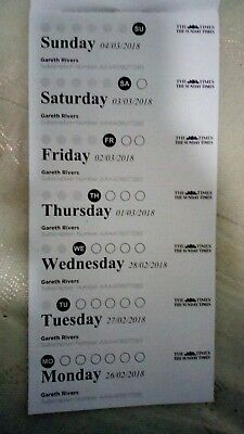 The times newspaper 13 weeks of prepaid vouchers monday to sunday