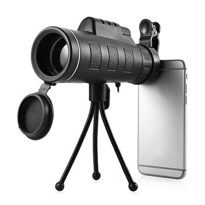 Outlife 40X60 Monocular Telescope HD Night Vision Prism Scope with Phone Clip Tr