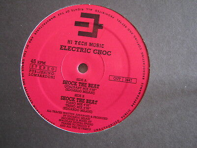Electric Choc. Shock The Beat. (High Tech Music Label) Piano House Classic.