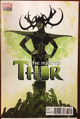 Mighty Thor 700 Adam Hughes 1:100 Variant Nm Hela Ragnarok Movie