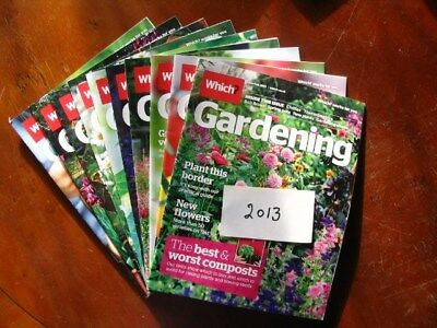 2013 Full Year Which Gardening January – December, all preloved used once only.