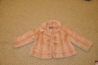Beautiful Juicy Couture Girls Faux Fur Coat/Jacket size 6 toddler girls