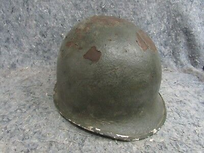WW2 US Army COMBAT M1 HELMET fixed bail front seam NO LINER