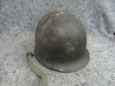 M1 Helmet Front Seam Swivel bale WW2 WWII US     NO LINER