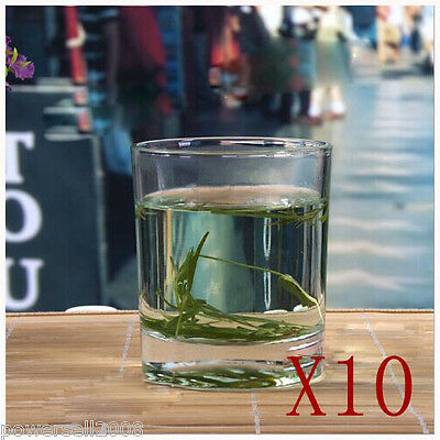 10X 220ML Contracted Lead-Free Crystal Glass Teacup Wine Glass Juice Cup NN