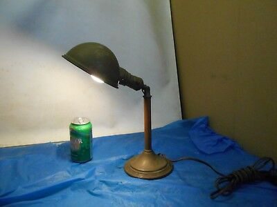 Antique  / Vintage  Brass Table Desk Lamp Can Be Polished or leave as is , Works