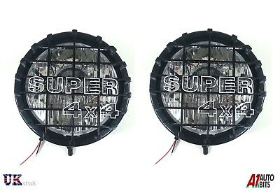"9"" Universal Pair X2 12V 4X4 Offroad Car Fog Beam Light Lights Lamp 55W"