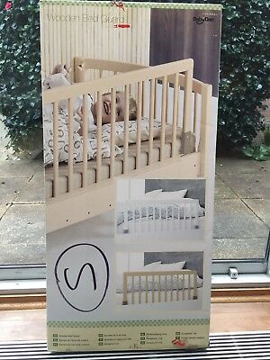 BabyDan Wooden Bed Guard New In Original Box white