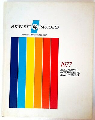 Vtg '77 Hewlett Packard Electronic Inst & Sys Measurements/computations Book
