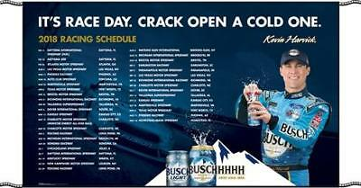 """2018 Busch Nascar Schedule Banner 34"""" x 58"""" - Get them before they are gone!!!"""