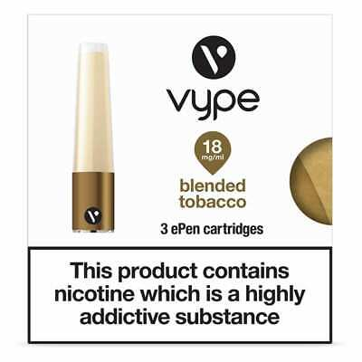 VYPE Blended Tobacco 6mg - 18mg ePen Caps Refill Cartridges | up to 10 Packs