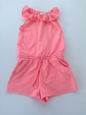 Next Girls Neon Pink Jersey Playsuit - Size 2-3 Years