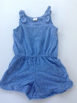 Next Girls Blue Marl Jersey Playsuit - Size 2-3 Years