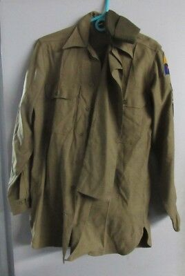 WWII US Army 1st Armour Division Uniform Named original Decent Condition