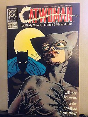 Catwoman No 4 New Mini-Series Format Will they be lovers? DC Comics May 1989