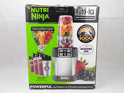 Nutri Ninja BL480UK CO with Auto IQ 1000W Extraction Blender with 4 Cups