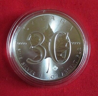 "1 oz Maple Leaf 2018 ""30 Years"""