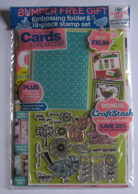 Simply Cards & Papercraft Magazine 170 with Floral Friends Folder & Stamps.