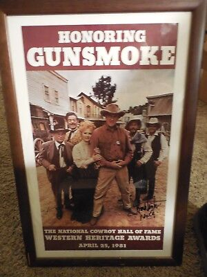 Buck Taylor 1981 Nat'l Gunsmoke Cowboy Hall Of Fame Signed Picture/poster Newly