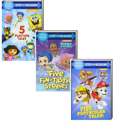 Step Into Reading Levels 1-2 Paw Patrol,Bubble Guppies + 15 Readers 3 Books NEW