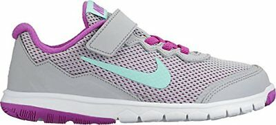 Nike Flex Experience 4 (PSV) 749820-003 Grey Turquoise Youth Girl's Running Shoe