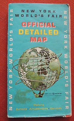 New York Worlds Fair Metal Unisphere Official Detailed Map 1964-1965 From ESSO