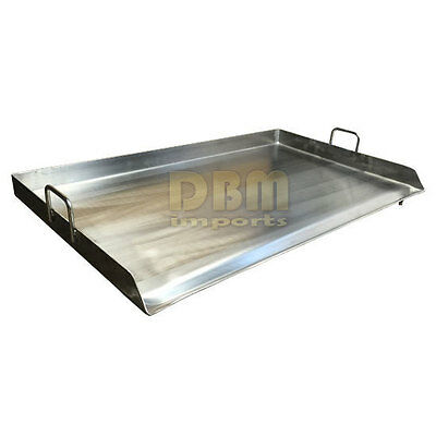 """36"""" x 22"""" Stainless Steel Griddle Flat Top Grill Plancha PAN for Triple Burner"""
