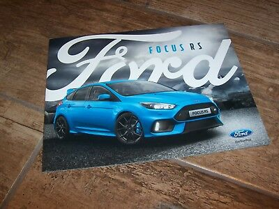 Catalogue /  Brochure FORD Focus RS 2016  //