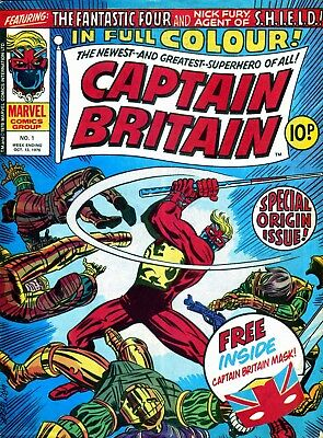 Uk Comics - Captain Britain Digital Comics Collection On Dvd