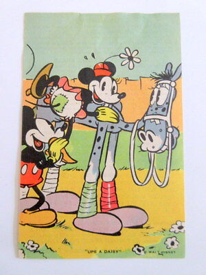 1930's Adventures of Mickey Mouse Recipe Card-Home Science Bread Disney