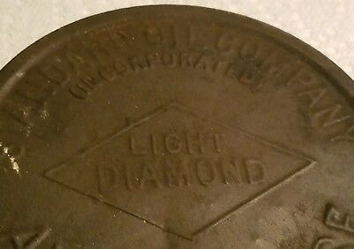early 1900's STANDARD OIL COMPANY LIGHT DIAMOND AXLE GREASE CAN old gas oil