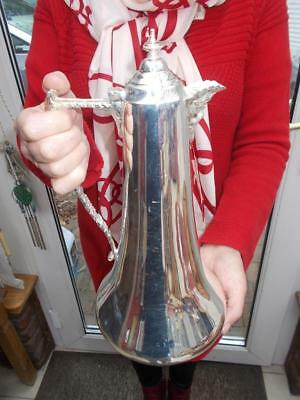 Superb Mappin & Webb Silver Plate Claret Jug 1.3 Litre Almost 2 Bottles A Beauty