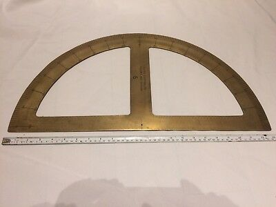 Large 1800's Brass Protractor