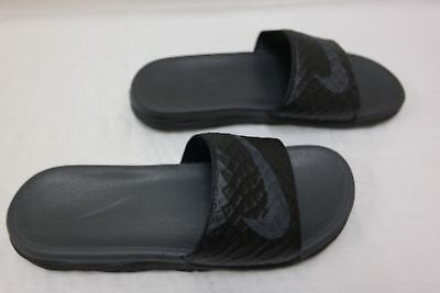 ee4036edf302 New Mens Nike Benassi Solarsoft Slide Style 705474-091 Blk Anthracite 200Q-T
