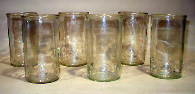 6 Vintage Smuckers Drinking Glass Jelly Jar Peanuts Gang Complete Set