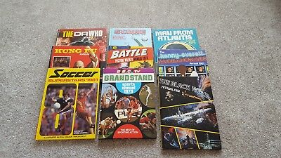 9x annuals from 1977 dr who kung fu man from atlantis score grandstand battle