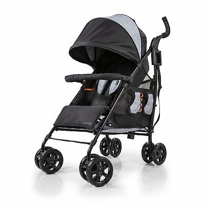 Summer Infant 32673 3Dtote CS+ Convenience Stroller, Gravel Grey
