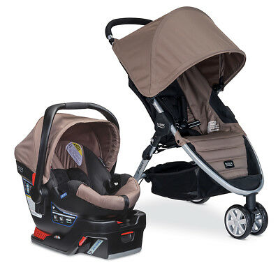 Britax B-Agile B-Safe 35 Travel System Stroller Sandstone Baby Infant Best Selle
