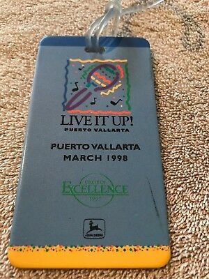 John Deere Luggage Tag - Circle of Excellence 1998 Puerto Vallarta