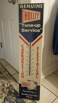 Genuine Holley Tune Up Service LARGE Wall Thermometer - EXC CONDITION