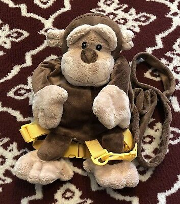 Monkey Plush Backpack Bag Harness with Child Safety Leash 2-in-1 Animal Planet