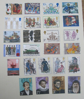 Great Britain 89 STAMPS COMMEMORATIVES 1970s onward, MIXED LOT. nice condition.