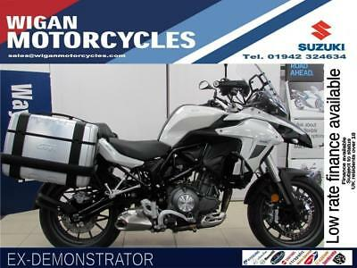 Benelli TRK502 Immaculate Ex Demonstrator with Givi Alloy Panniers Big Savings