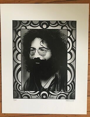 JERRY Garcia Grateful Dead Michael Everett art gig poster print RARE #3/10- 2006