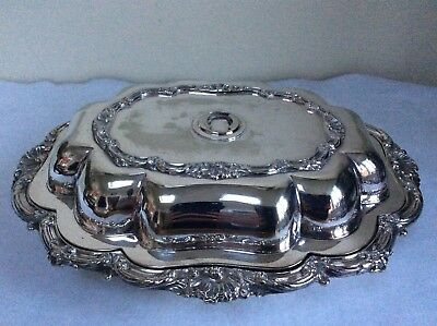 Antique Walker & Hall Covered Tureen Silver Plate Circa 1880