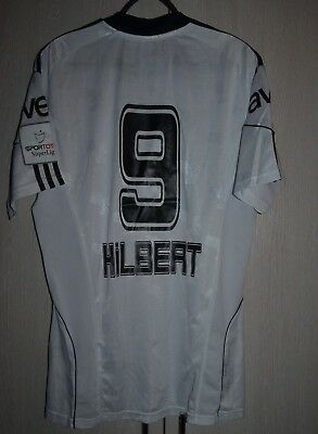 Besiktas Turkey 2010/2011 Match Worn Football Shirt Jersey Adidas #9 Hilbert