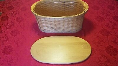 Longaberger Small Workload Basket With Woodcraft Lid And Protector