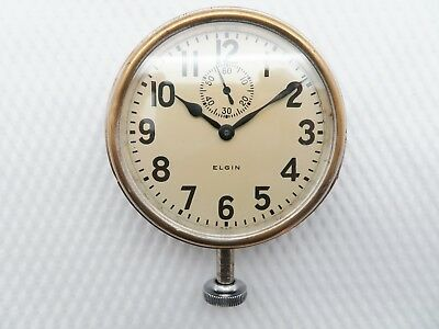 Antique 1926 ELGIN 8 DAYS CAR CLOCK - Serviced - Warranty