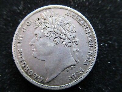 Better grade , Silver 6d - Sixpence , George IV ( IIII ) , 1821 , Nice coin.