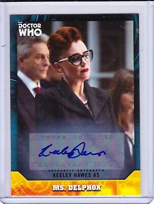 Doctor Who Signature Series 53 Keeley Hawes Blue Autograph Trading Card